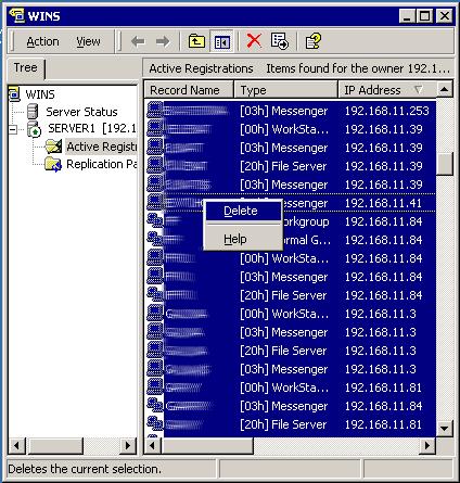 WINS, VPN tunnel ISA 2004 Server
