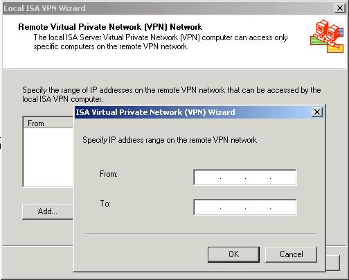 Настройка VPN в ISA 2004 Server